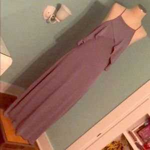 NWT Charlotte Russe sleeveless maxi purple-grey -L